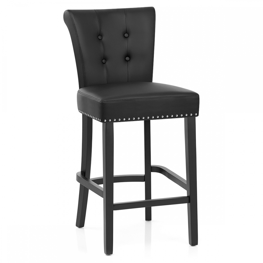 6a56f864fa1 Chaise de bar Buckingham cuir croûté - Monde du Tabouret