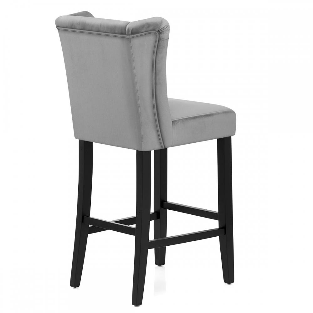 chaise de bar pemberley velours monde du tabouret. Black Bedroom Furniture Sets. Home Design Ideas