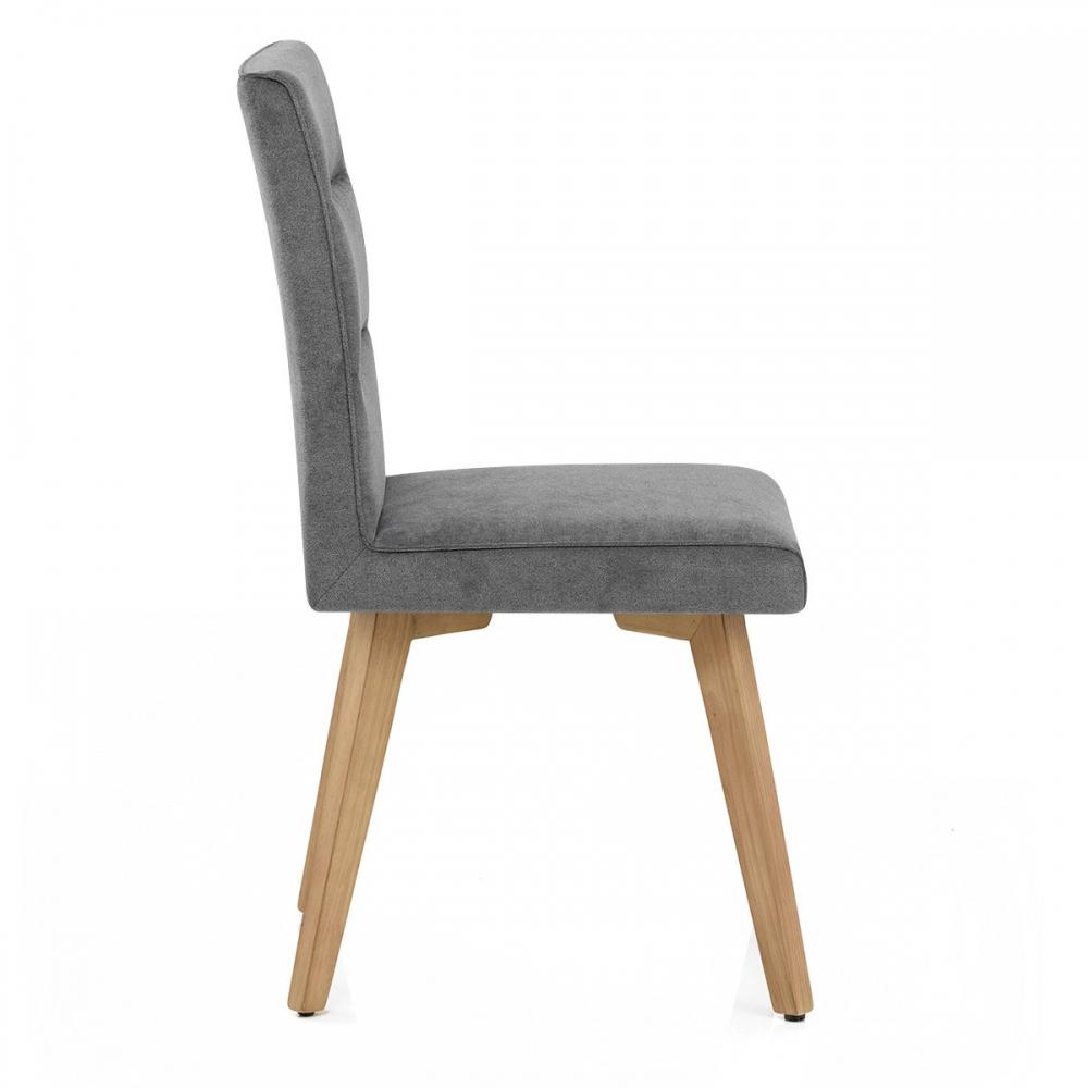 Chaise tissu bois hadley monde du tabouret for Chaise salon bois