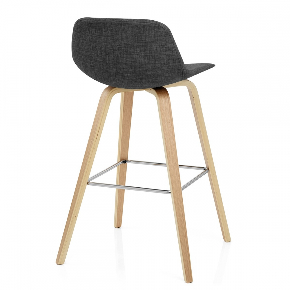 chaise de bar reef en bois et tissu monde du tabouret. Black Bedroom Furniture Sets. Home Design Ideas
