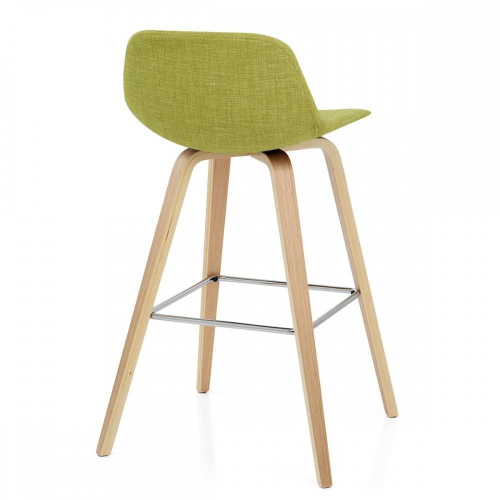 517bbb06eb2a1e Chaise de bar Reef en bois et tissu - Monde du Tabouret