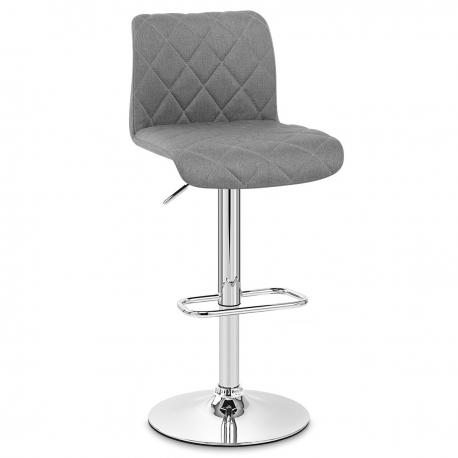 chaise de bar en tissu et chrome liberty monde du tabouret. Black Bedroom Furniture Sets. Home Design Ideas