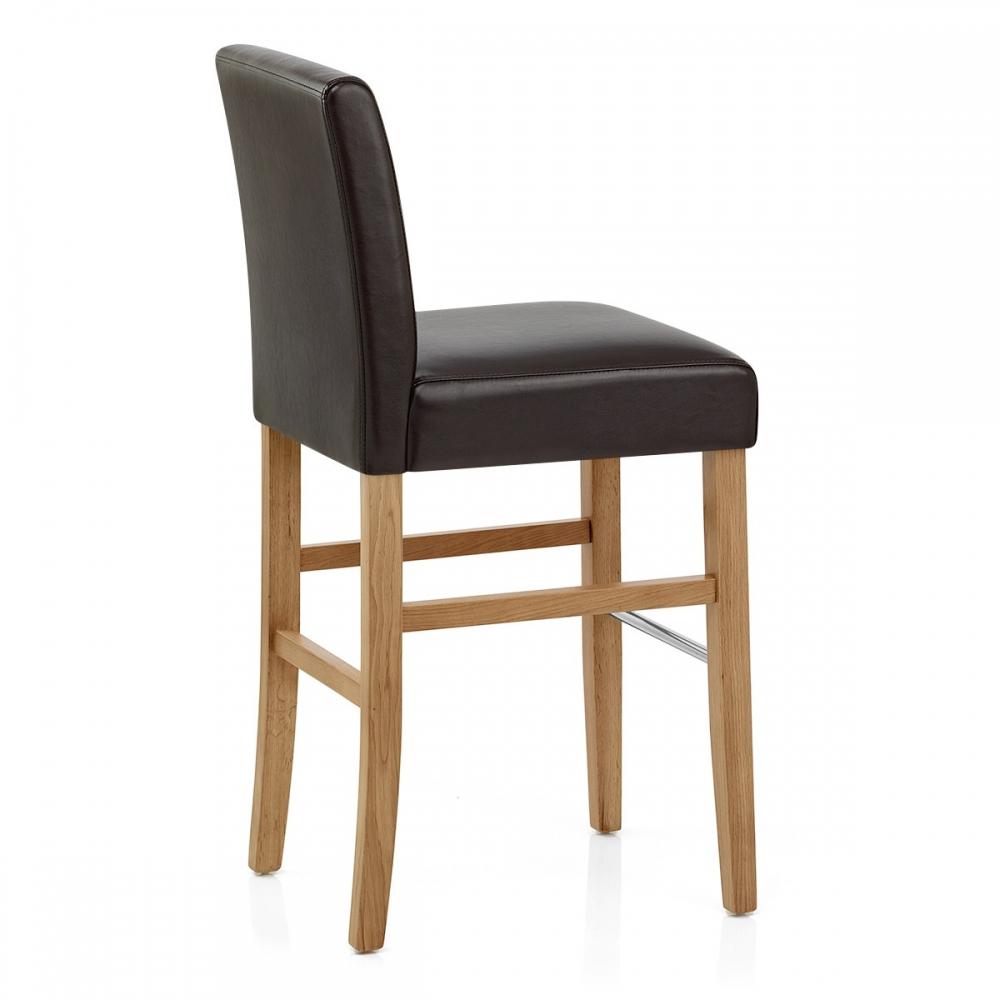 le tabouret de bar purnell est en bois et simili cuir. Black Bedroom Furniture Sets. Home Design Ideas