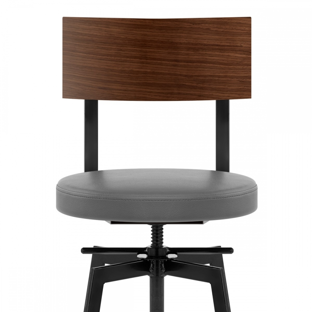 tabouret de bar bois faux cuir urban monde du tabouret. Black Bedroom Furniture Sets. Home Design Ideas