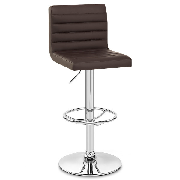 Chaise de Bar Faux Cuir Chrome - Mint