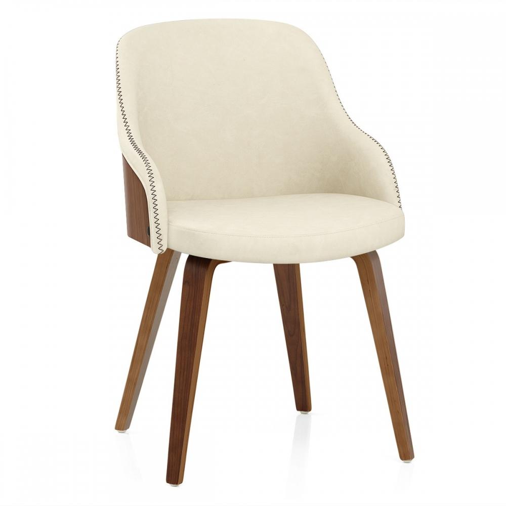 chaise faux cuir et bois fusion - monde du tabouret