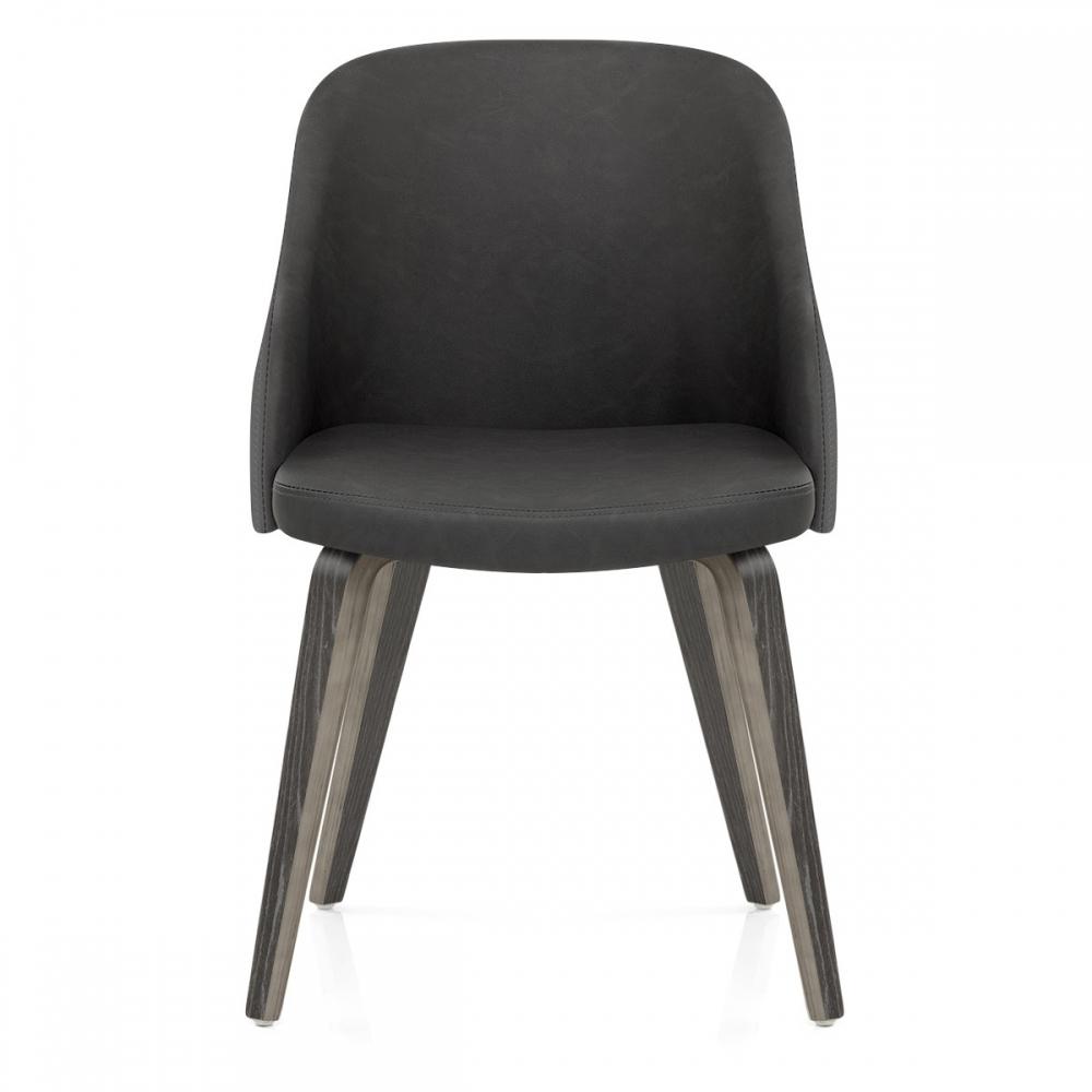 Chaise faux cuir et bois fusion monde du tabouret - Chaise simili cuir gris ...