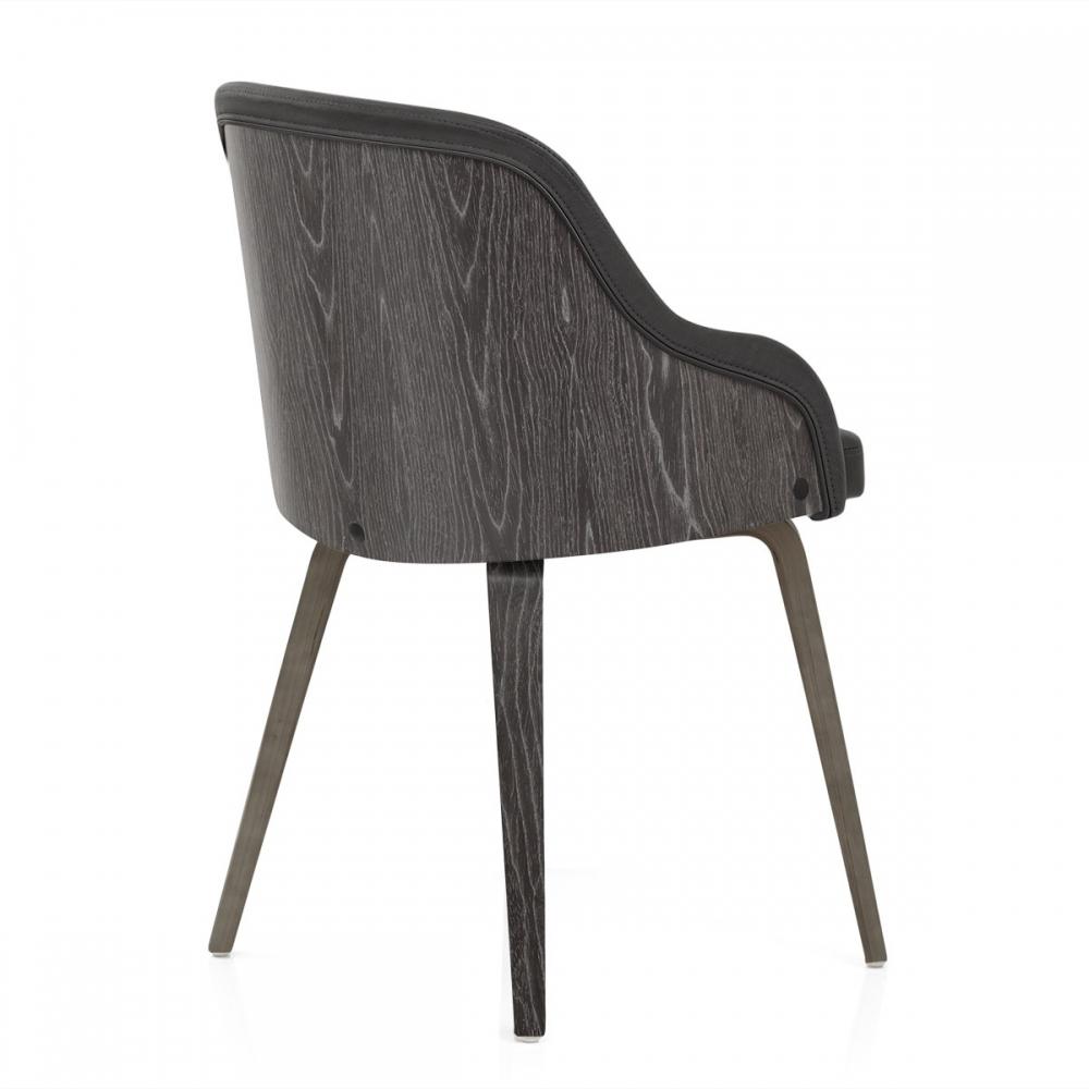 Chaise faux cuir et bois fusion monde du tabouret Chaise bois gris