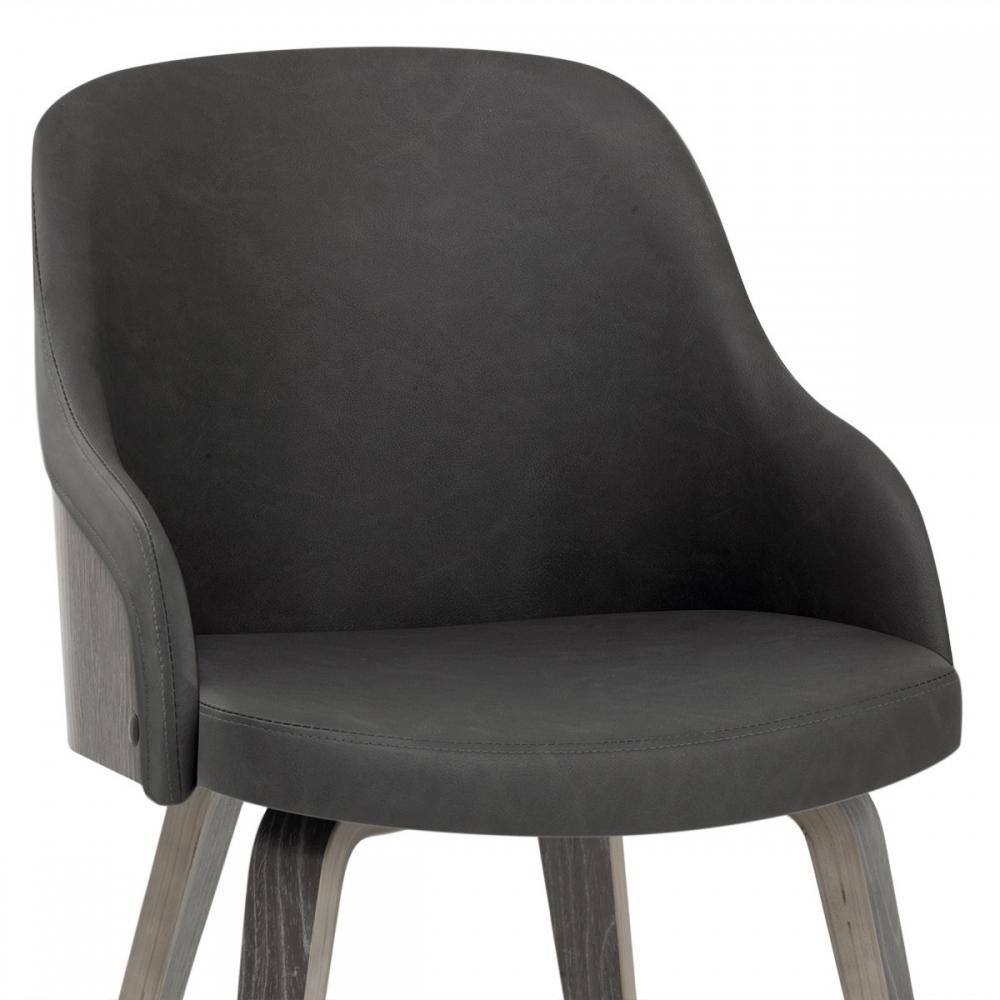 chaise faux cuir et bois fusion monde du tabouret. Black Bedroom Furniture Sets. Home Design Ideas