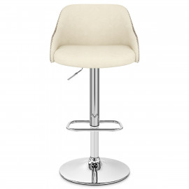 Tabouret de bar Simili Cuir - Fusion Noyer