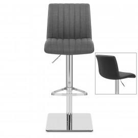 Chaise de bar Tissu Chrome - Clifford