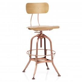 Chaise de Bar Bois - Fuse Cuivre