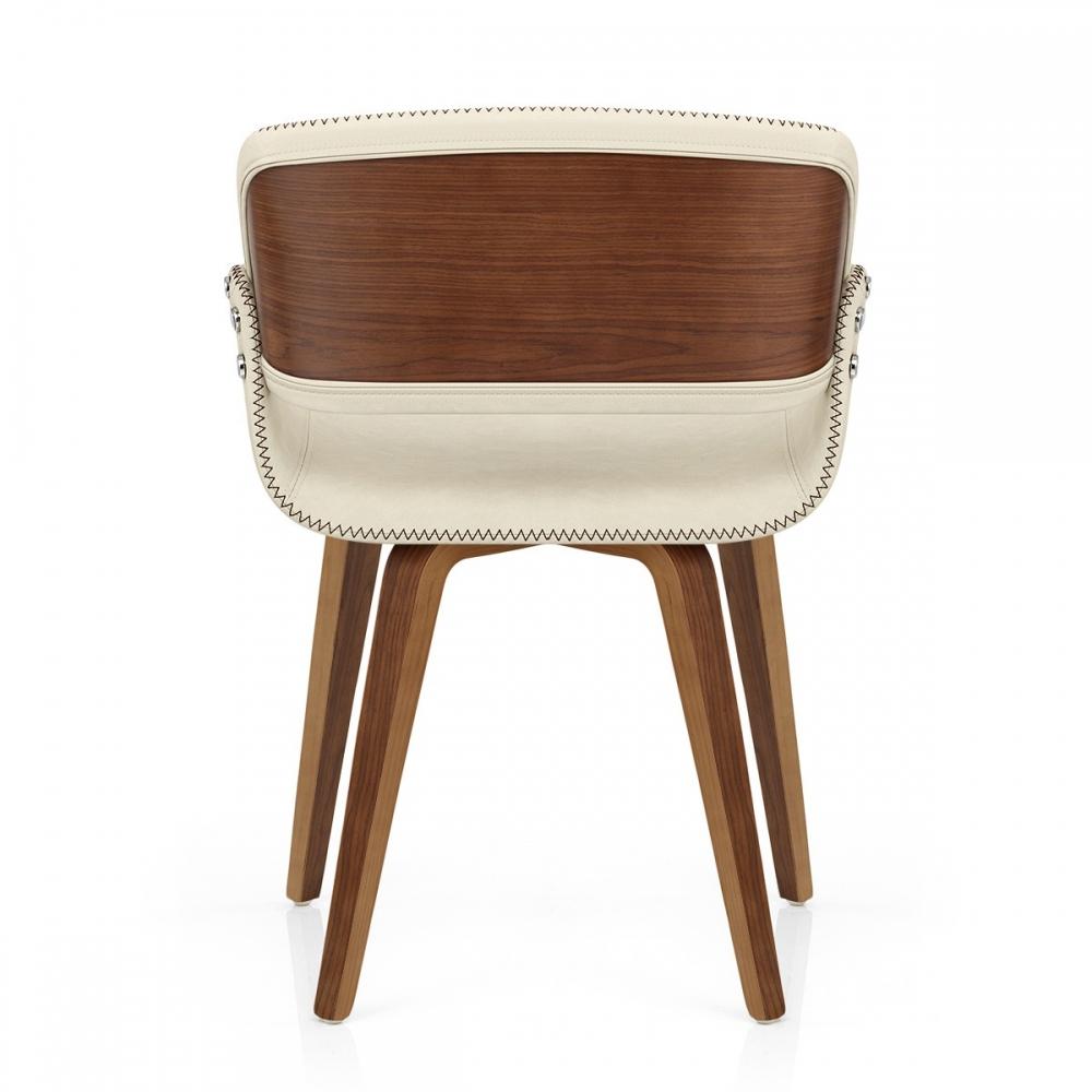 chaise faux cuir noyer flint monde du tabouret. Black Bedroom Furniture Sets. Home Design Ideas