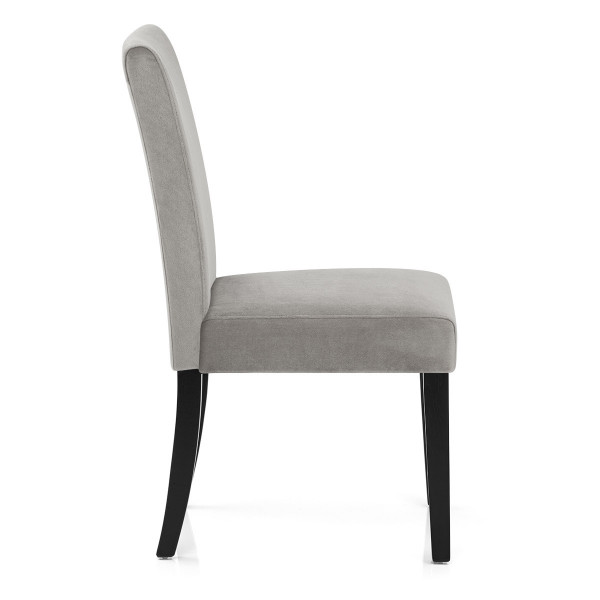 Chaise Bois Velours - Boston Gris
