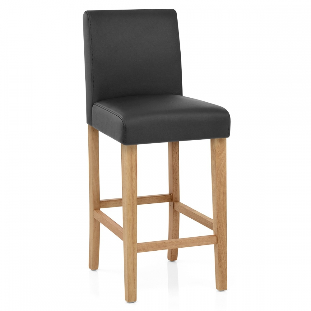 tabouret de bar bois faux cuir tetbury monde du tabouret. Black Bedroom Furniture Sets. Home Design Ideas