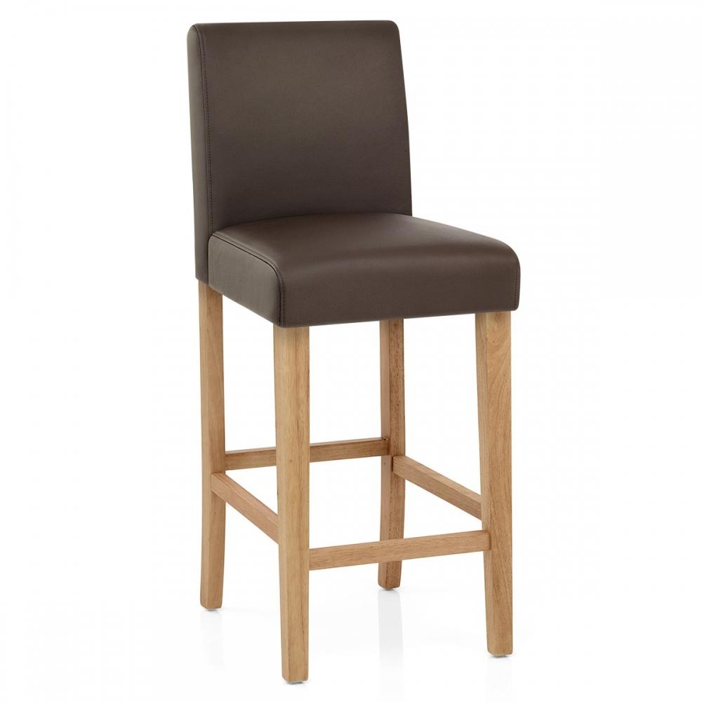 tabouret de bar bois faux cuir tetbury monde du tabouret. Black Bedroom Furniture Sets. Home Design Ideas