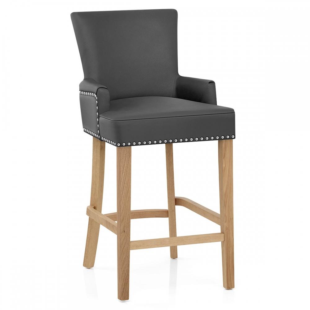 tabouret de bar cuir cro t nico monde du tabouret. Black Bedroom Furniture Sets. Home Design Ideas