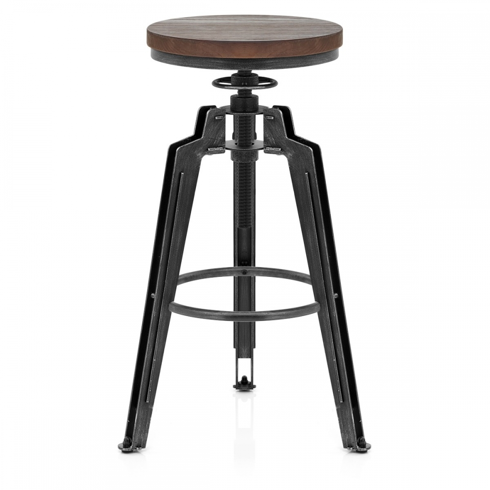 tabouret de bar m tal trio monde du tabouret. Black Bedroom Furniture Sets. Home Design Ideas