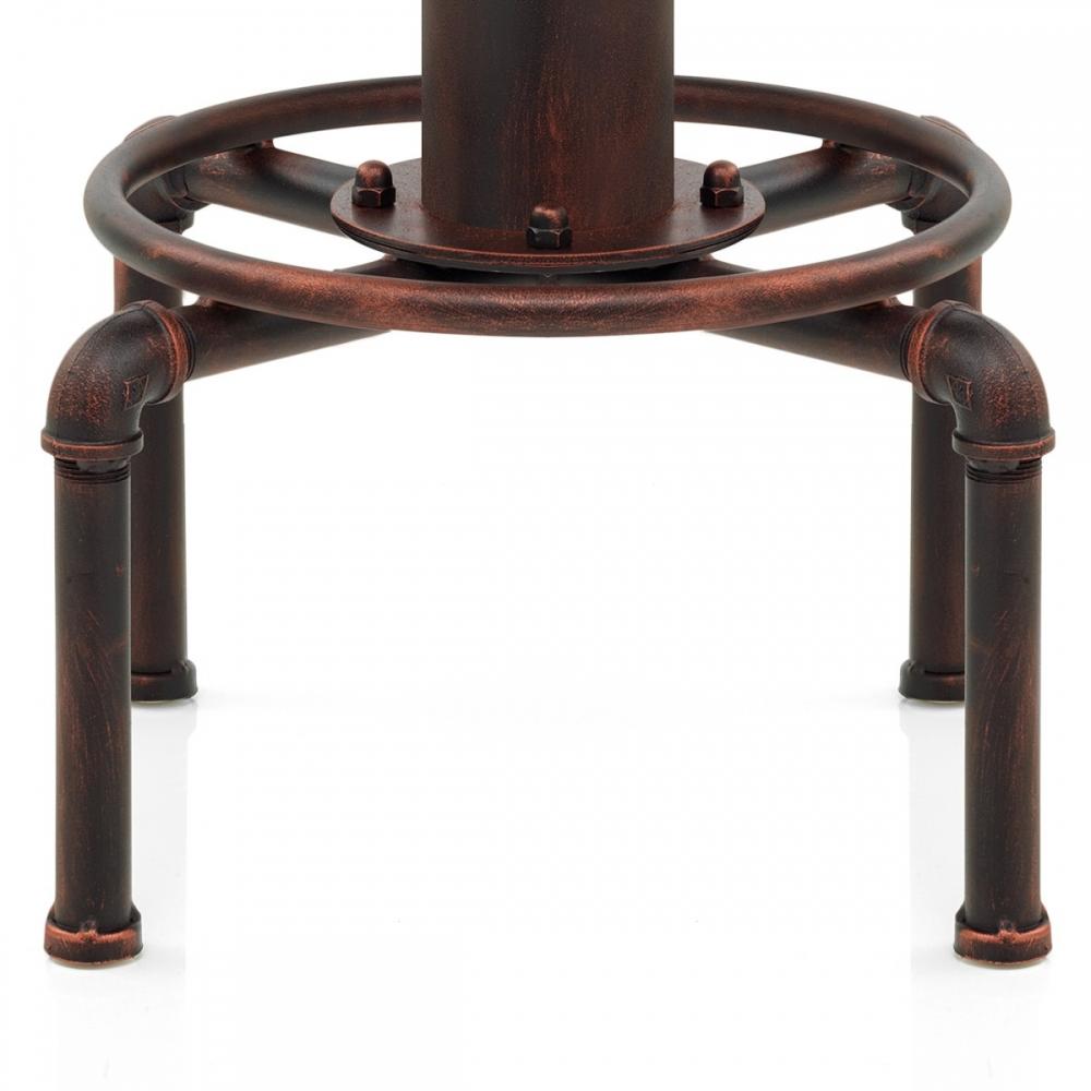 tabouret de bar bois hydrant cuivre monde du tabouret. Black Bedroom Furniture Sets. Home Design Ideas