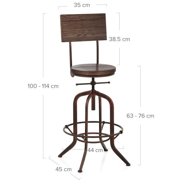 Chaise de bar Bois - Lathe Cuivre