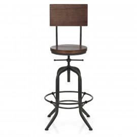Chaise de bar bois Métal - Lathe Antique