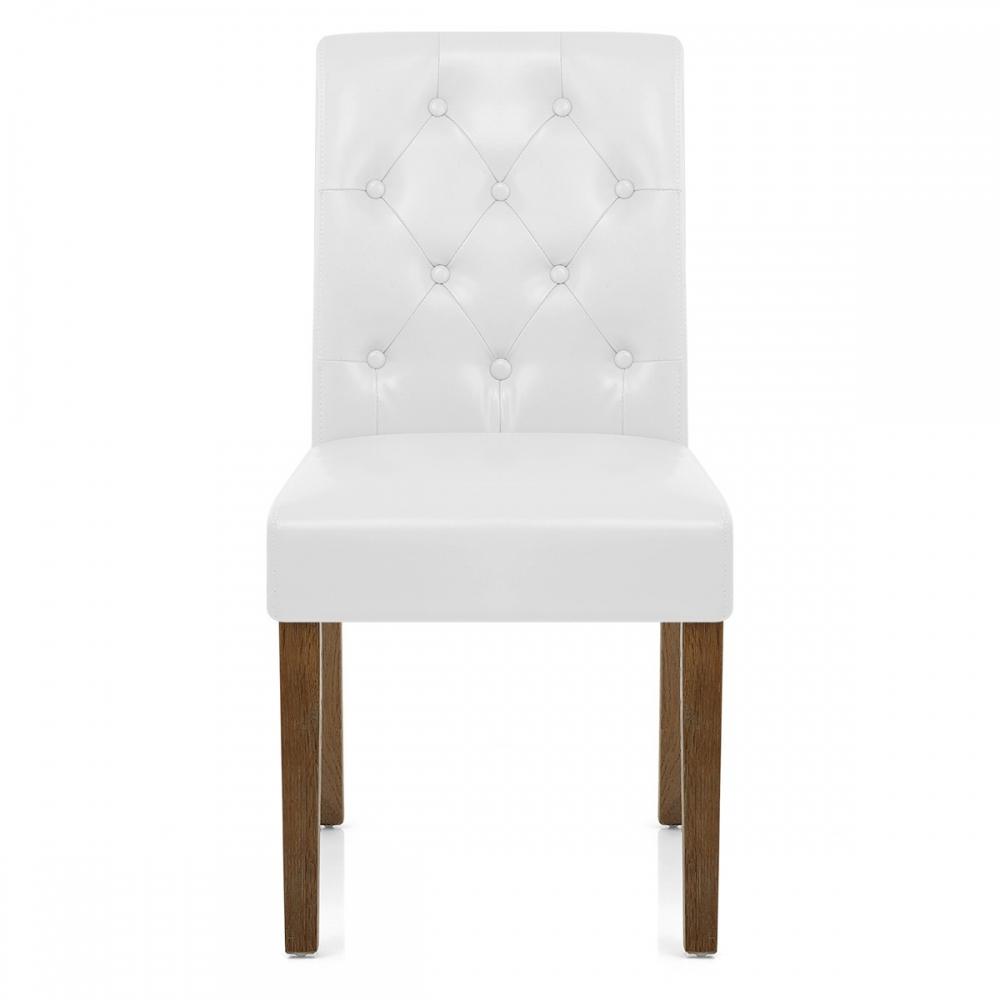 Chaise faux cuir bois denver monde du tabouret for Chaise cuir bois