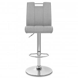 Chaise de Bar Tissu Chrome - Loco