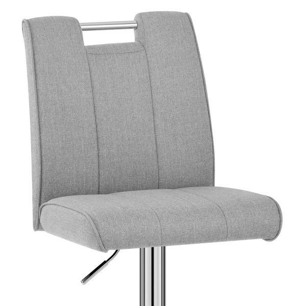 Chaise de Bar Tissu Chrome - Loco Gris