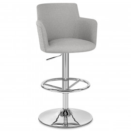 Chaise de bar Tissu Chrome - Vogue