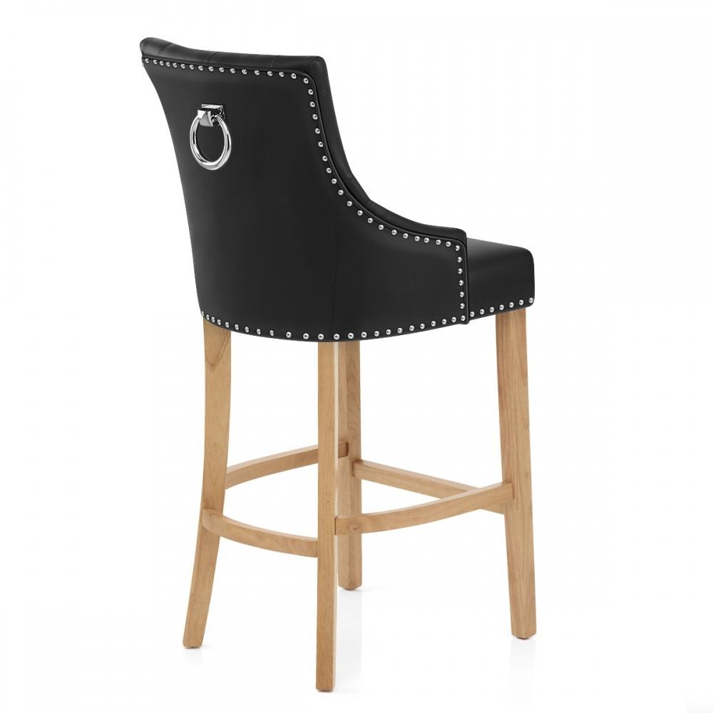 Chaise de bar cuir crout ch ne ascot monde du tabouret - Chaise de bar cuir ...