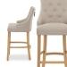 Chaise de Bar Chêne Tissu - Ascot Taupe