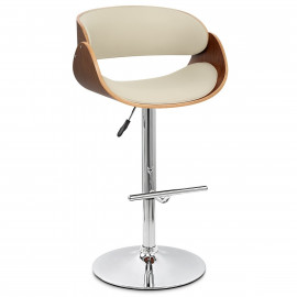 Chaise de Bar Bois Chrome - Becky