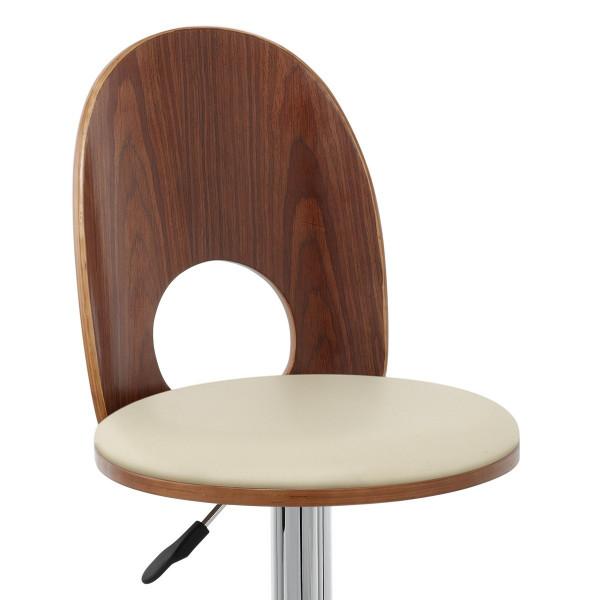 chaise de bar bois chrome bolero monde du tabouret. Black Bedroom Furniture Sets. Home Design Ideas