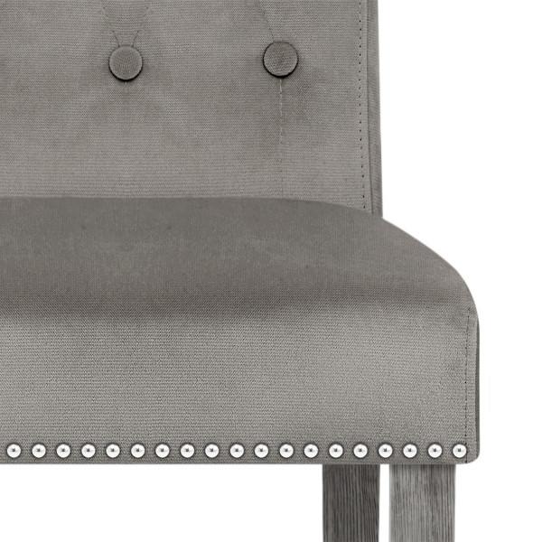 Chaise velours bois - Moreton Gris