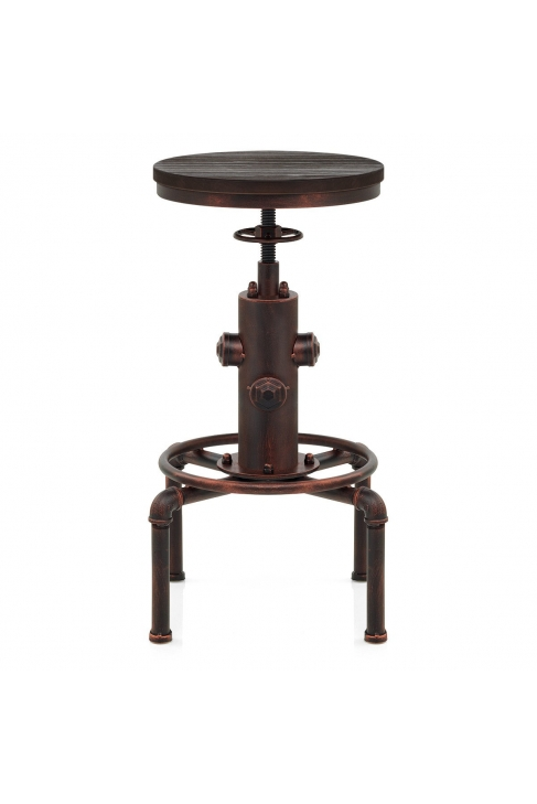 tabouret de bar bois hydrant cuivre monde du tabouret. Black Bedroom Furniture Sets. Home Design Ideas