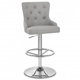 Chaise de Bar Tissu Chrome - Manor