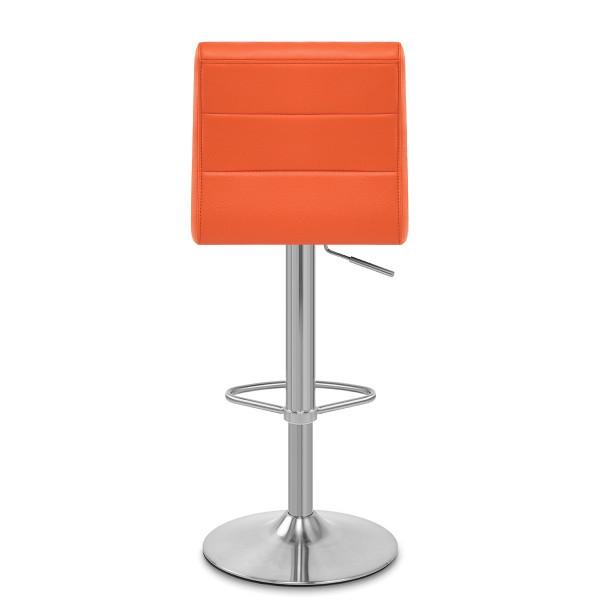 Chaise de Bar Faux Cuir Chrome Brossé - Breakfast