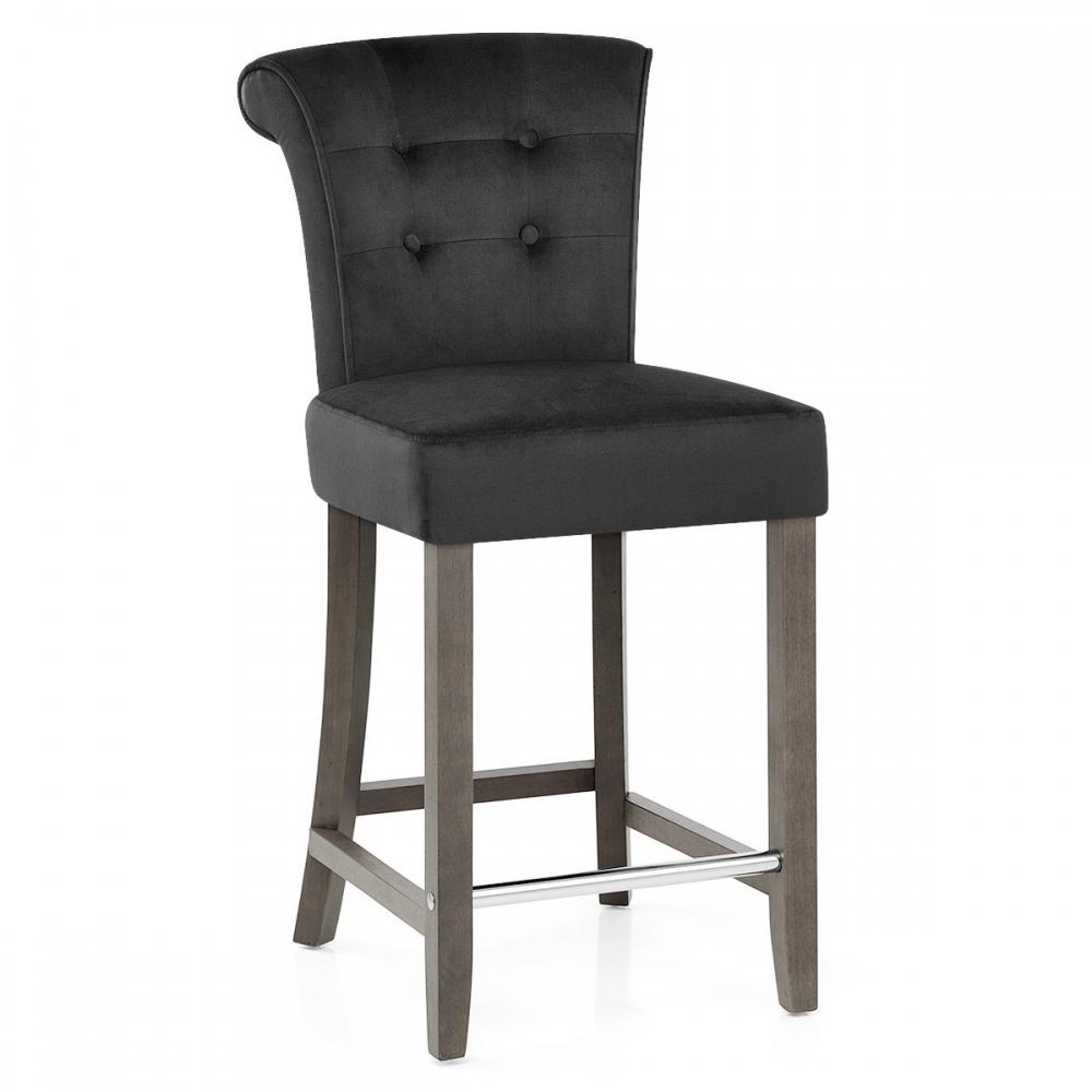 tabouret de bar bois velours carlton monde du tabouret. Black Bedroom Furniture Sets. Home Design Ideas