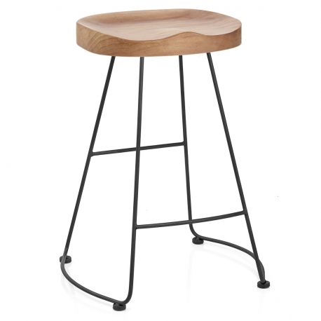 tabouret de bar noir et bois clair freedom monde du tabouret. Black Bedroom Furniture Sets. Home Design Ideas