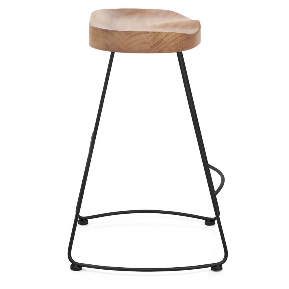tabouret de bar noir et bois clair freedom monde du. Black Bedroom Furniture Sets. Home Design Ideas