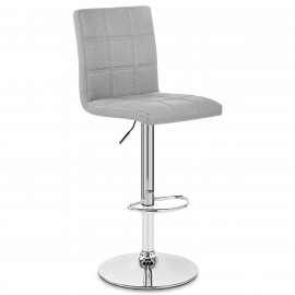 Chaise de Bar Tissu Chrome - Criss Cross