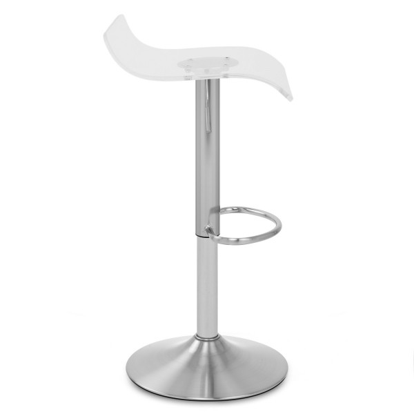 Tabouret plastique chrome brossé - Shimmer Transparent