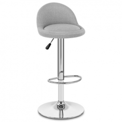 Chaise de Bar Tissu Chrome - Glee