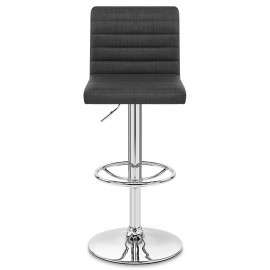 Chaise de Bar Tissu Chrome - Mint