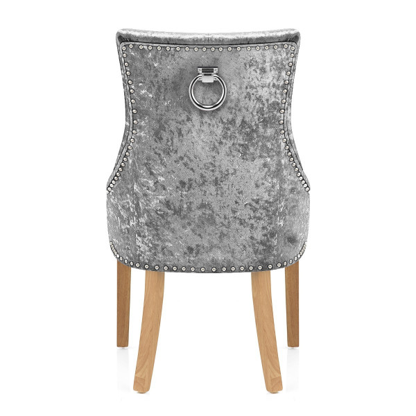 Chaise Chêne Velours - Ascot Gris