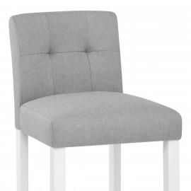 Chaise de Bar Bois Tissu - Crawford