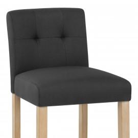 Chaise de Bar Chêne Tissu - Canterbury