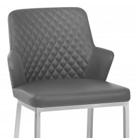 Chaise de Bar Chrome Faux Cuir - Arden