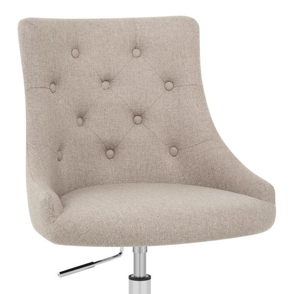 Chaise de Bureau Tissu - Sofia Crème