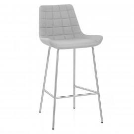 Chaise de Bar Tissu Chrome Brossé - Lido